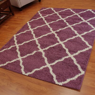Deluxe Purple/Beige Area Rug