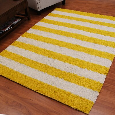 Deluxe Yellow/White Area Rug