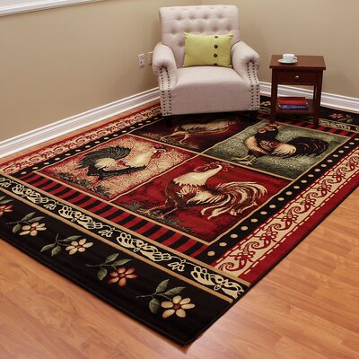 Lodge Brown/Red Area Rug Rug Size: 7 x 10