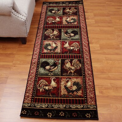 Lodge Brown/Red Area Rug Rug Size: Runner 2 x 7