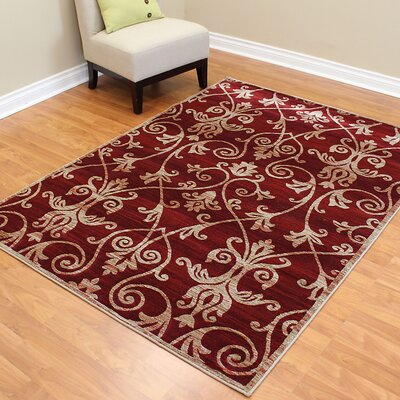 Cambridge Floral Burgundy Area Rug