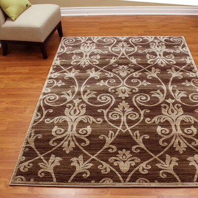 Cambridge Floral Brown Area Rug