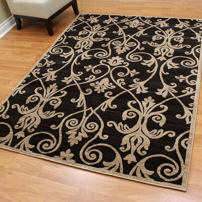 Cambridge Floral Black Area Rug
