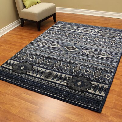 Cambridge Southwest Thunder Blue Area Rug