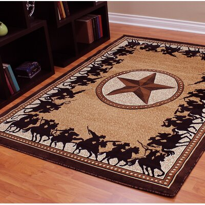 Traditions 726 Western Star Berber Area Rug