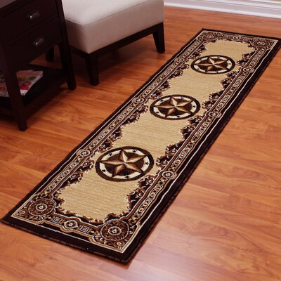 Mollie Beige/Black Area Rug