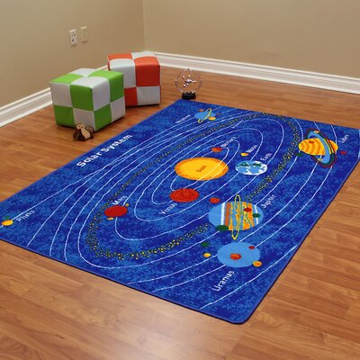 Paradise Design Solar System Bule Outdoor Area Rug Rug Size: 5 x 7