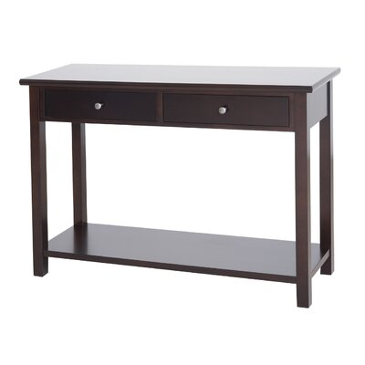 Cheap DonnieAnn Company Austin Console Table with 2 Drawers in Dark Birch (QDY1289)