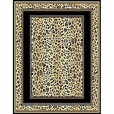 African Adventure Berber Leopard Skin Border Area Rug Rug Size: 52 x 7