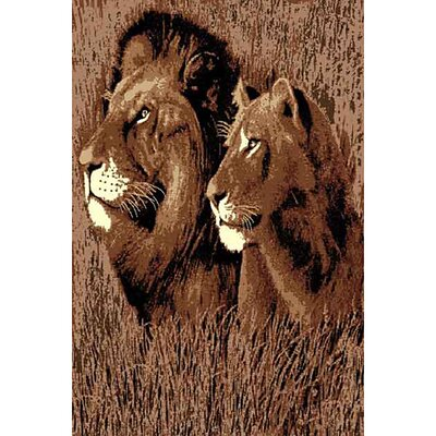 African Adventure Lion Head Area Rug Rug Size: 52 x 7