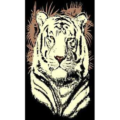 African Adventure Tiger Head Area Rug Rug Size: 52 x 7