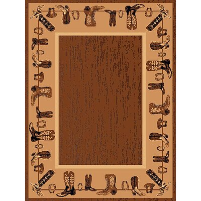 Lodge Design Boots Novelty Rug Rug Size: 52 x 72