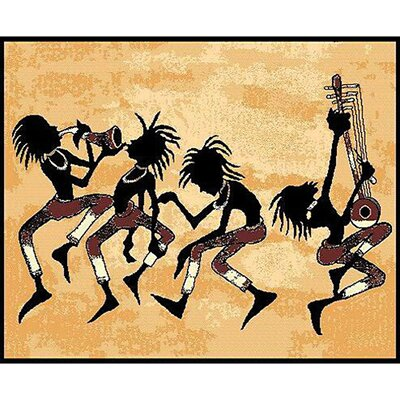 African Adventure Tribal Dance Area Rug Rug Size: 7 x 52
