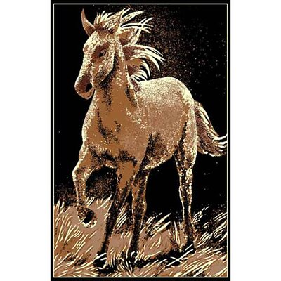 African Adventure Running Horse Area Rug Rug Size: 7 x 52