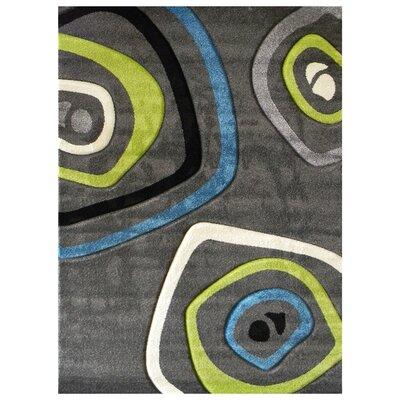 Studio 600 Charcoal Geometric Area Rug Rug Size: 7 x 5