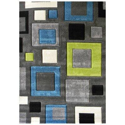 Studio 601 Charcoal Geometric Area Rug Rug Size: 7 x 5