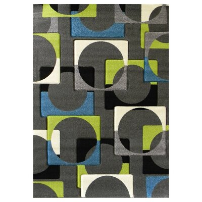 Studio 609 Charcoal Geometric Area Rug Rug Size: 7 x 5
