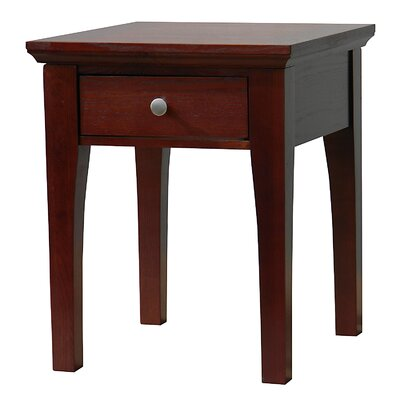 Easy financing Fraser End Table Finish: Mahogany...