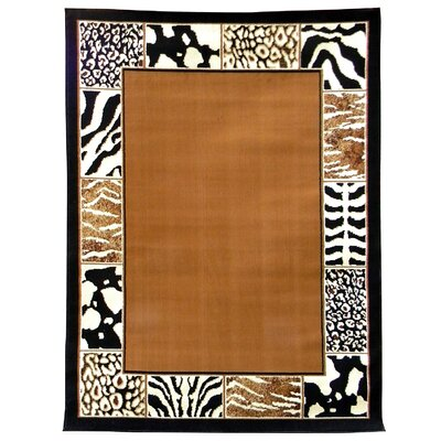 African Adventure Border Skin Area Rug Rug Size: 52 x 7