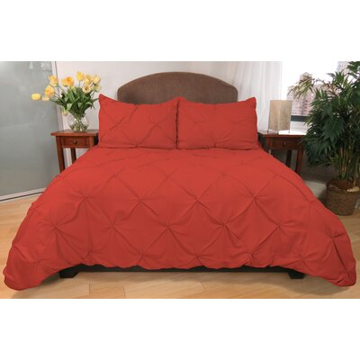 Park B Smith Ltd 3 Piece Pouf Down Alternative Mini Comforter Set - Size: Full/Queen Color: Ginger