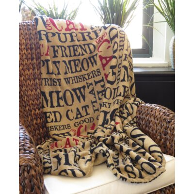 PB Paws Pet Good Cat Super Soft Polyester Fleece Throw