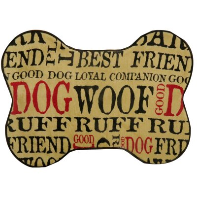 Good Memory Foam Dog Mat Size: 20 x 28 (Bone Shape)