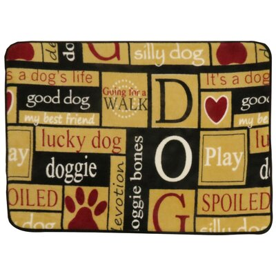 I Love Dogs Memory Foam Pet Mat Size: 20 x 28  (Rectangle)