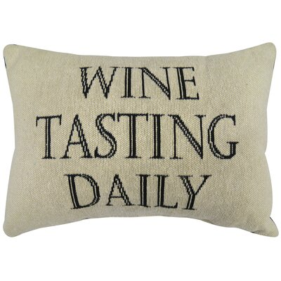 Wine Tasting Tapestry Decorative Throw Pillow Size: 9x13