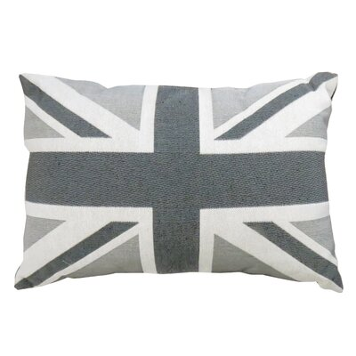Union Jack Tapestry Decorative Throw Pillow Color: Silver
