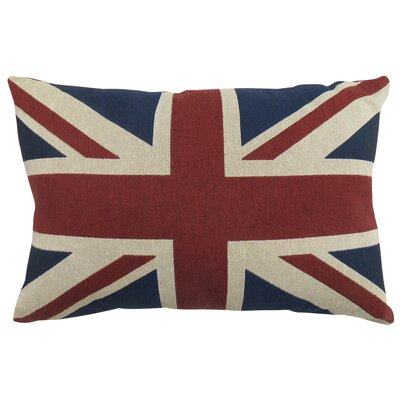 Union Jack Tapestry Decorative Throw Pillow Color: Cinnibar