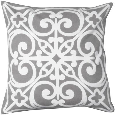 East Gate Printed Decorative Cotton Throw Pillow Color: Gray