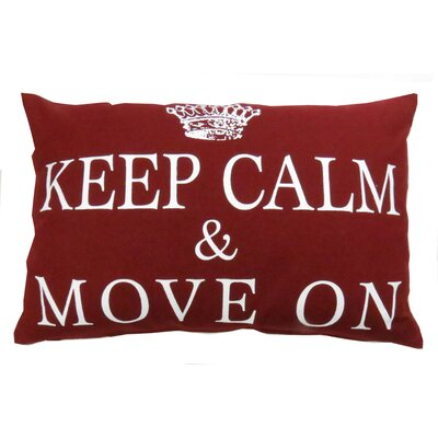 Keep Calm & Move on Pillow