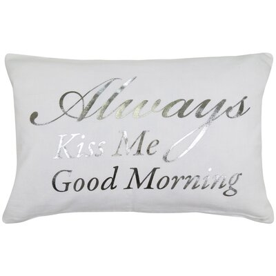Good Morning 100% Cotton Lumbar Pillow