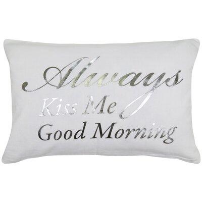 Good Morning 100% Cotton Lumbar Pillow