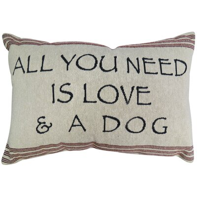 Need Love & Dog Lumbar Pillow