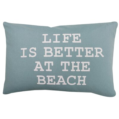 Better at the Beach 100% Cotton Lumbar Pillow