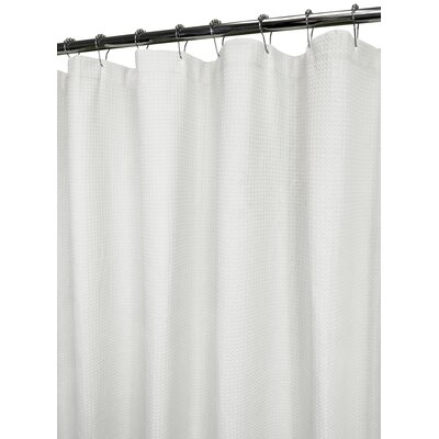Garin 100% Cotton Ultra Spa Shower Curtain Color: White