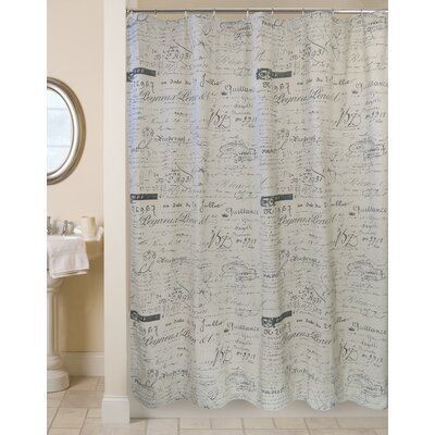 100% Cotton Script Ultra Spa Shower Curtain