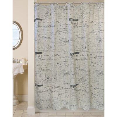 100% Cotton Script Ultra Spa Shower Curtain