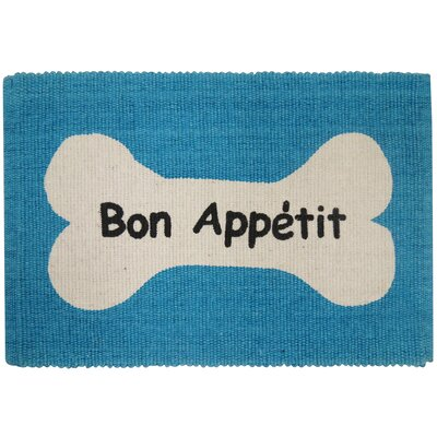 PB Paws & Co. Bone Appetit Cotton Pet Mat Color: Tropical Blue