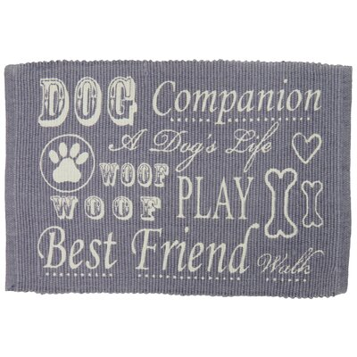 PB Paws & Co. Dog Companion Cotton Pet Mat Color: Plum, Size: 19 W x 13 D