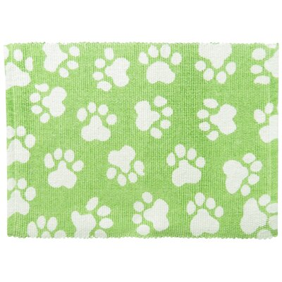 PB Paws & Co. World Paws Cotton Pet Mat Size: 30 W x 20 D, Color: Lime