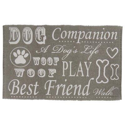 PB Paws & Co. Dog Companion Cotton Pet Mat Color: Silver
