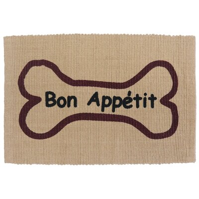 Alberto Bone Appetit Cotton Pet Mat Color: Linen