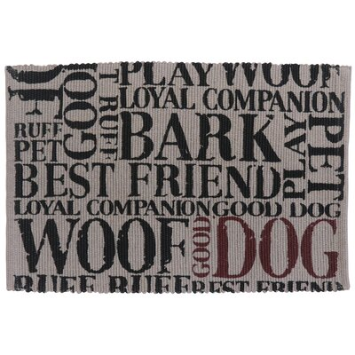 PB Paws & Co. Good Dog Cotton Pet Mat Color: Grey