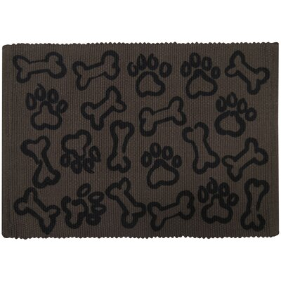 PB Paws & Co. Puppy Paws Cotton Pet Mat Color: Chocolate, Size: 19 W x 13 D