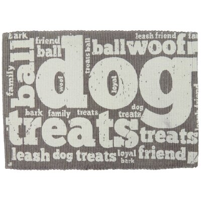 PB Paws & Co. Family Treats Cotton Pet Mat Color: Silver, Size: 30 W x 20 D