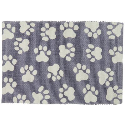 PB Paws & Co. World Paws Cotton Pet Mat Color: Plum, Size: 19 W x 13 D