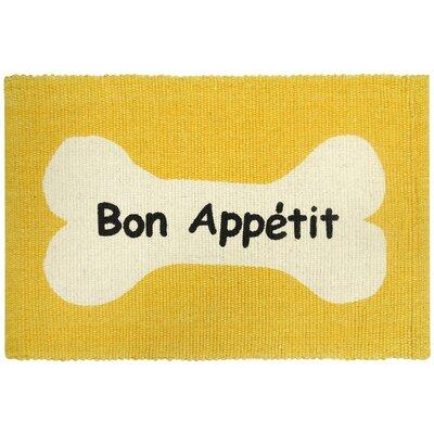 PB Paws & Co. Bone Appetit Cotton Pet Mat Color: Lemon