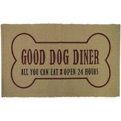 PB Paws & Co. Dog Dinner Cotton Pet Mat Color: Linen